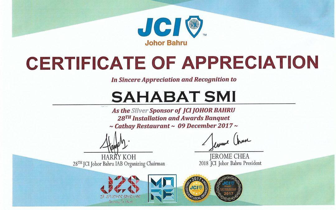 28th JCI Johor Bahru Installation & Awards Banquet 09.12.2017