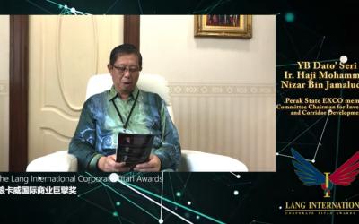 Lang International Corporate Titan Awards – YB Dato' Seri Ir Haji Mohammad Nizar Bin Jamaluddin
