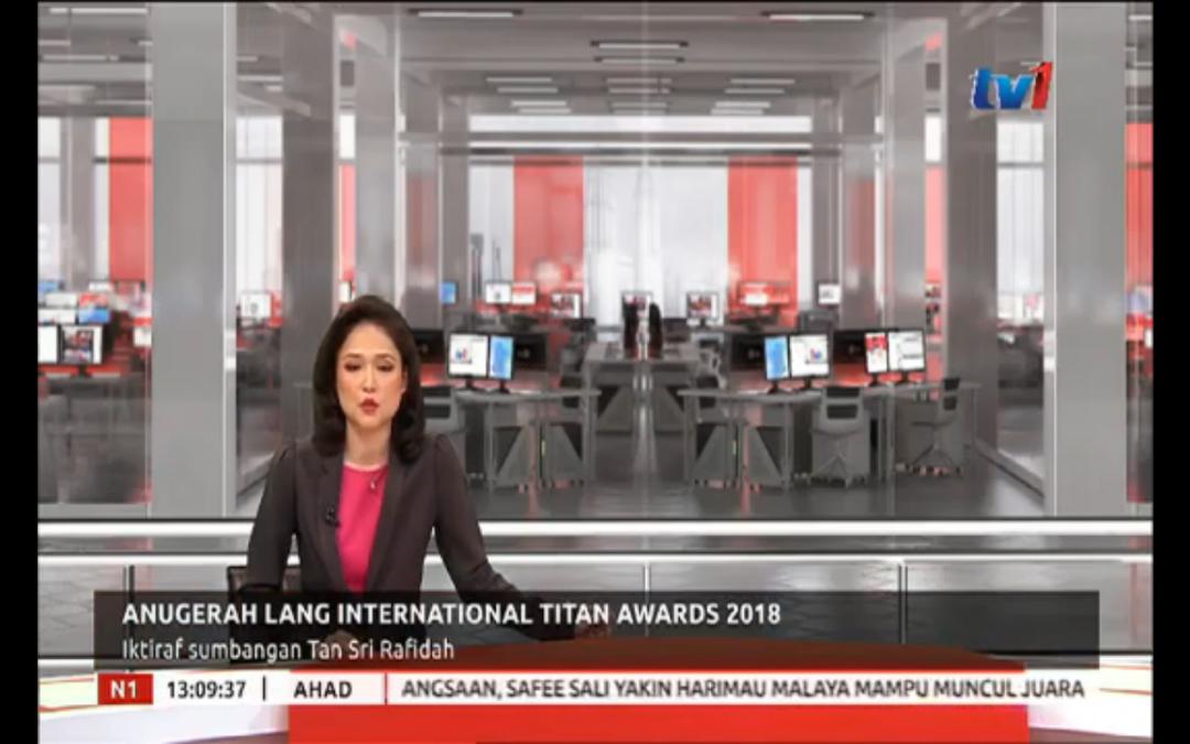 Lang International Corporate Titan Awards on RTM TV1 dated 09-12-2018