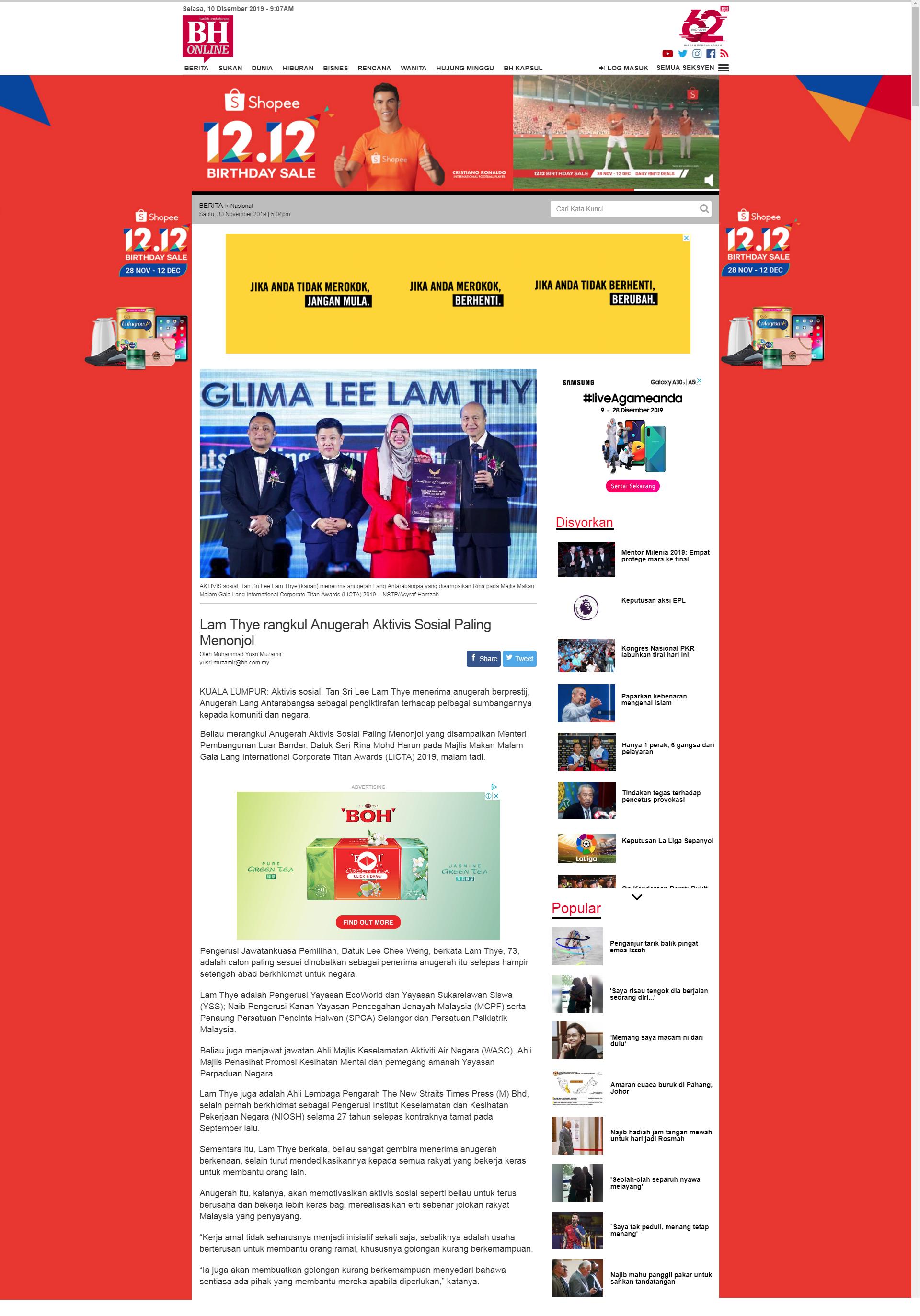 Berita Harian (30.11.2019)